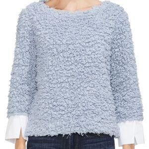Vince Camuto Top Pullover Popcorn Knit Sz L